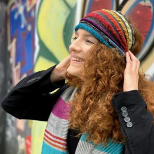 Elastic headbands woven from soft warming silk