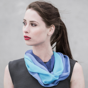 Loop Scarves Made from Chiffon Silk